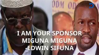 I am your sponsor, Edwin Sifuna tells Miguna Miguna