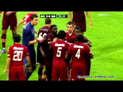 Besiktas vs Manchester City Scuffle