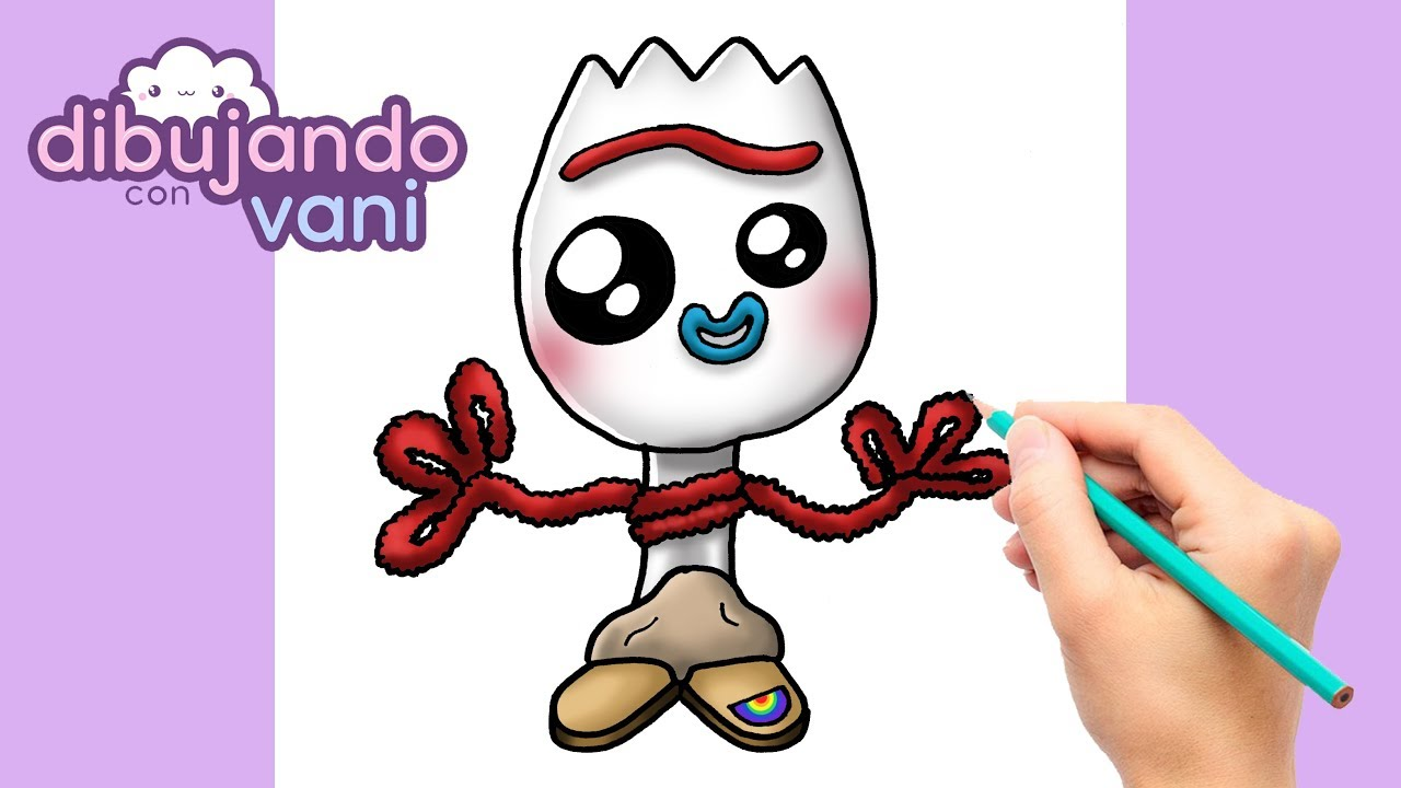 How To Draw Forky From Toy Story Kawaii