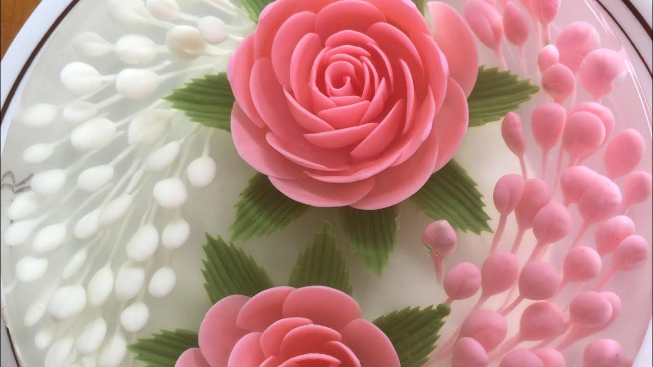 Rau câu 3D  hướng dẫn bắt hoa hồng cho các bạn tự học ở nhà