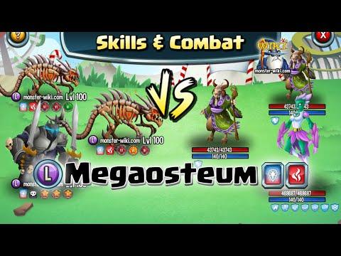 Megaosteum [Legend, Fire] - Skills & Combat - Monster Legends