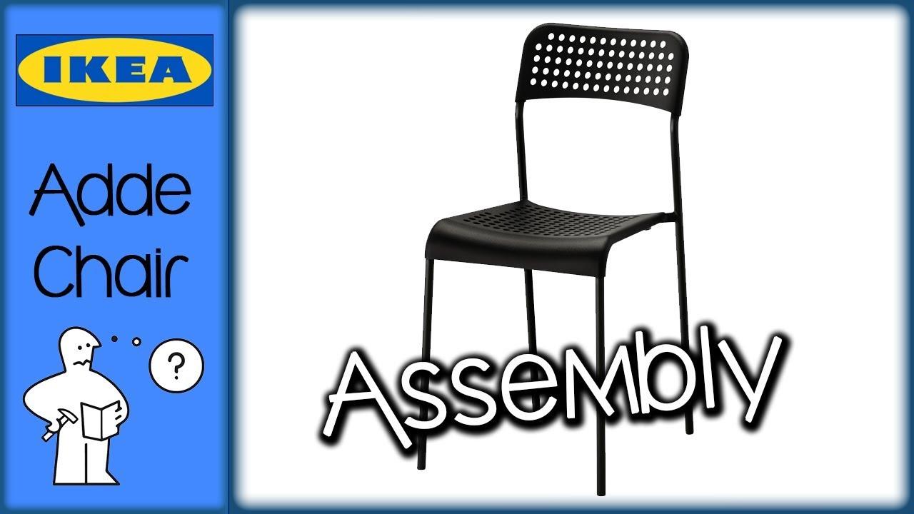 Ikea Adde Chair Assembly Montaggio Sedia Adde Ikea Youtube