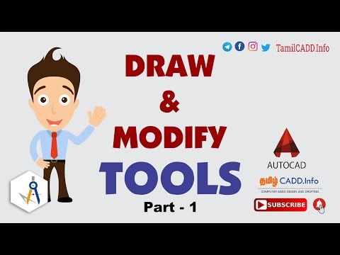 AutoCAD I TUTORIAL #1 FOR BEGINNERS IN தமிழ்...!