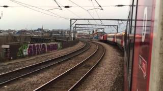 Virgin Trains East Coast HST arriving into Newcastle station
