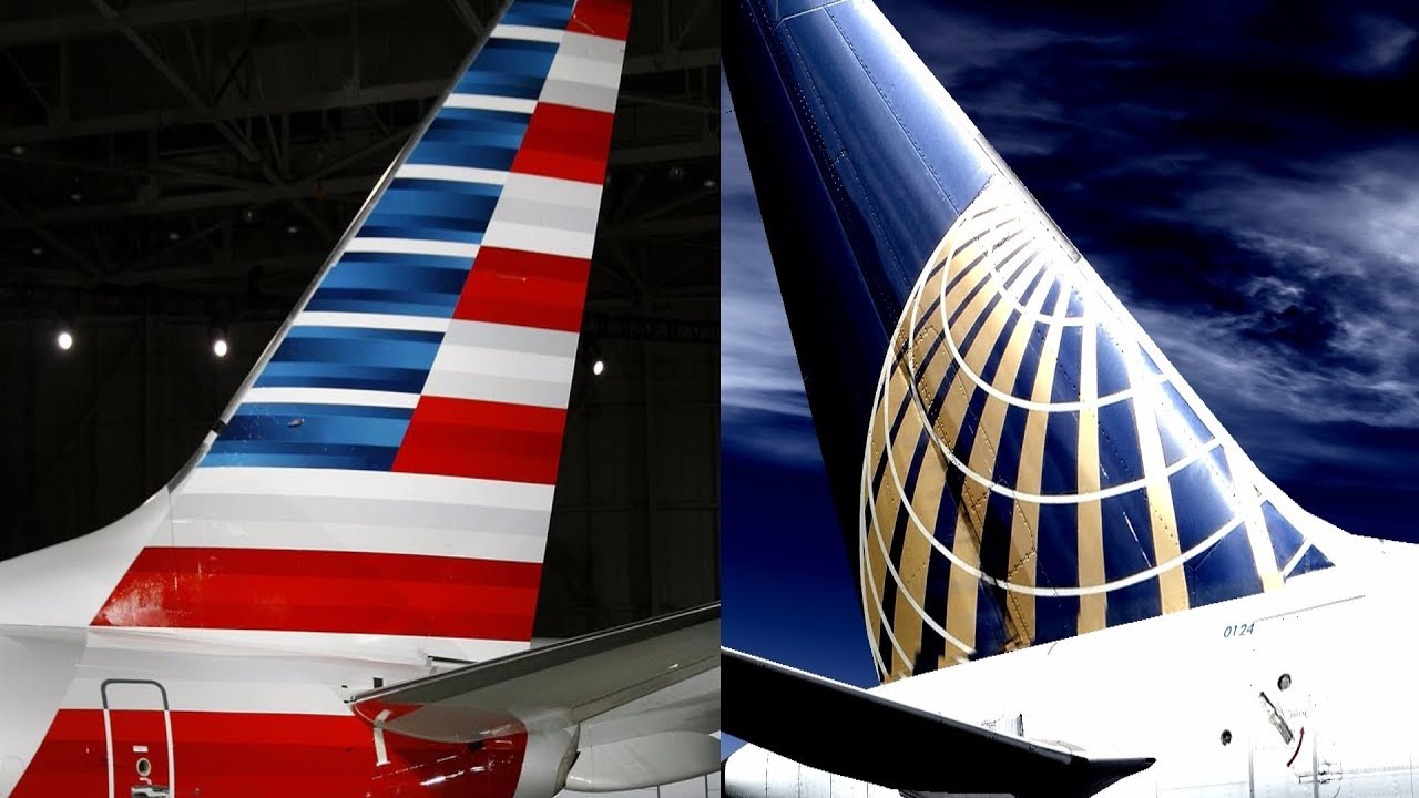 American Airlines Vs United Airlines Youtube