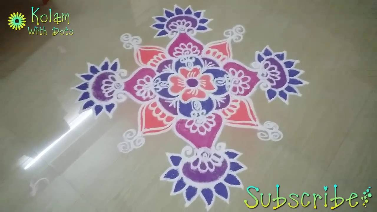 Easy Rangoli Designs For Home With Colour Homemade Ftempo