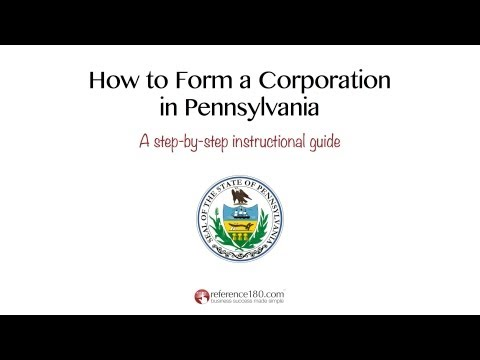 How to Incorporate in Pennsylvania