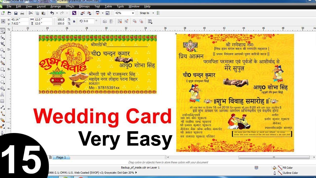 Indian Wedding Card Design In Corel Draw X6