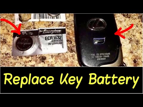 Lexus is350 key fob battery