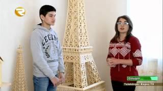 Kibrit çöplərindən möhtəşəm əsərlər   Məscid, kilsə, Qız qalası, Eyfel qülləsi Region TV   Region TV