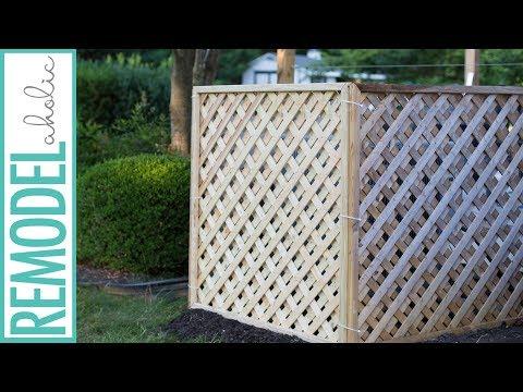 Hide Your Outdoor AC Unit! Easy DIY Lattice Air Conditioner Screen