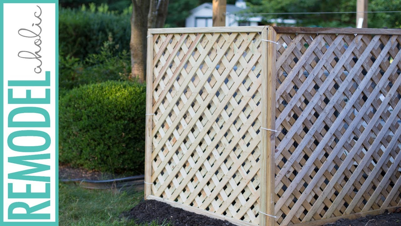 Hide Your Outdoor AC Unit! Easy DIY Lattice Air