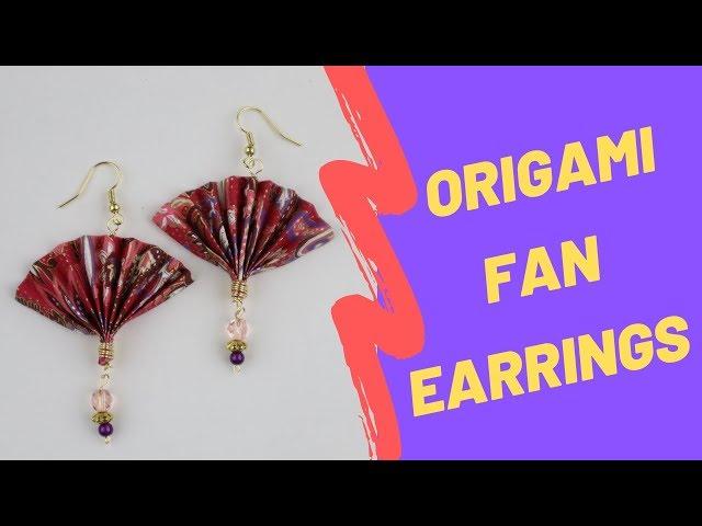 DIY Origami Paper Fan Earrings Tutorial