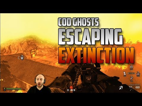 Winning CoD Ghosts Extinction - Easy Escape With Sentry Guns! AKA Sentry Guns OP