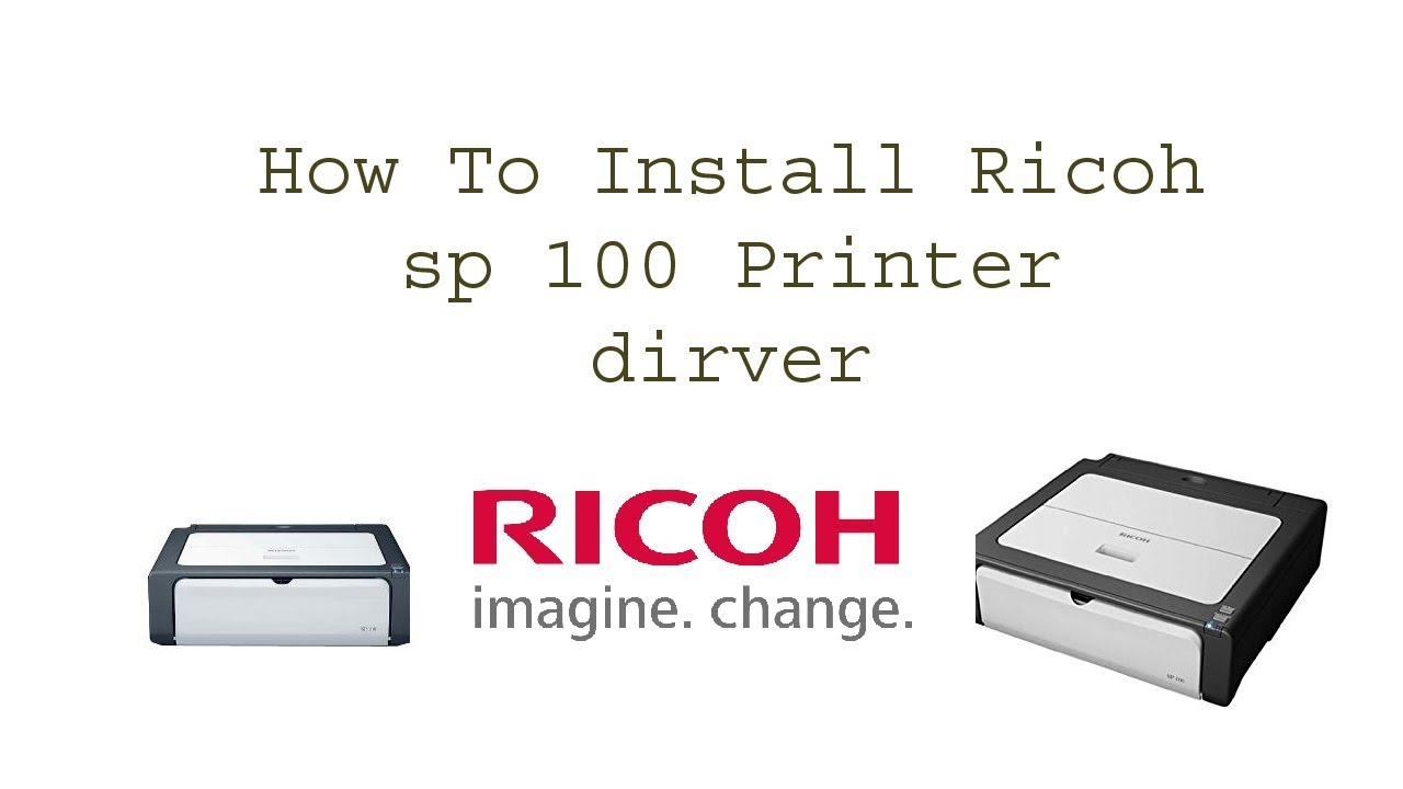 How to download Ricoh Sp 100 driver || Teach World ||