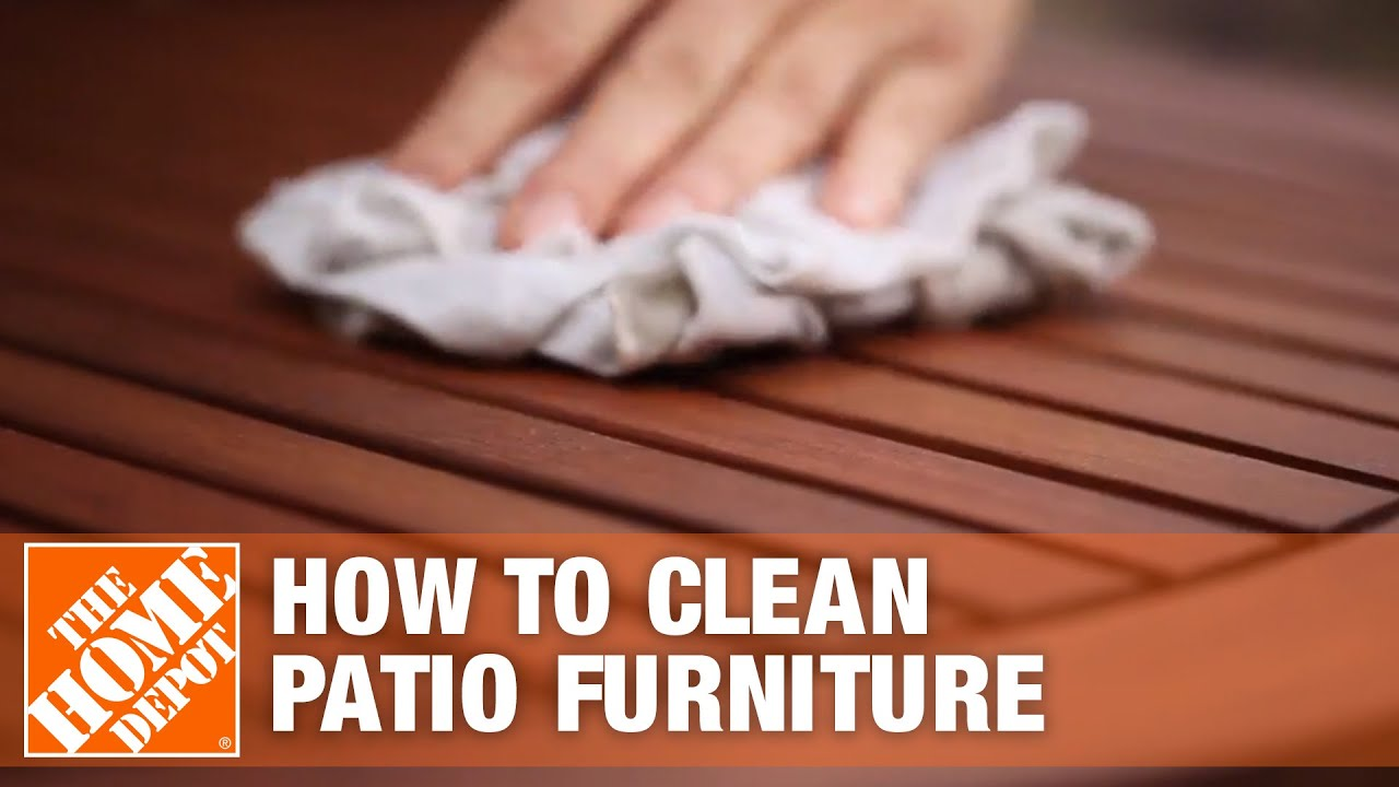 How To Clean Patio Furniture The Home Depot Youtube
