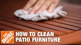 How to Clean Patio Furniture | The Home Depot