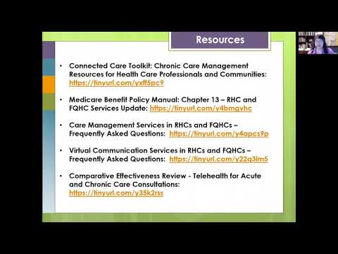 FQHC Webinar Series Telehealth and Chronic Care Management