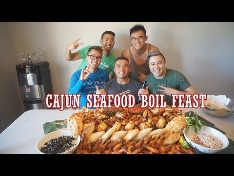 CAJUN SEAFOOD BOIL FEAST | RECIPE | Mukbang | QT