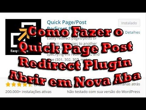 Como Fazer o Quick Page Post Redirect Plugin Abrir em Nova Aba