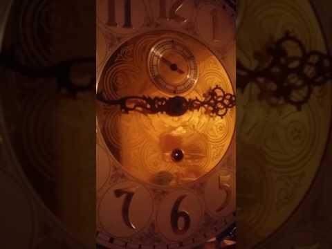 Winding a 1991 Howard Miller grandfather clock