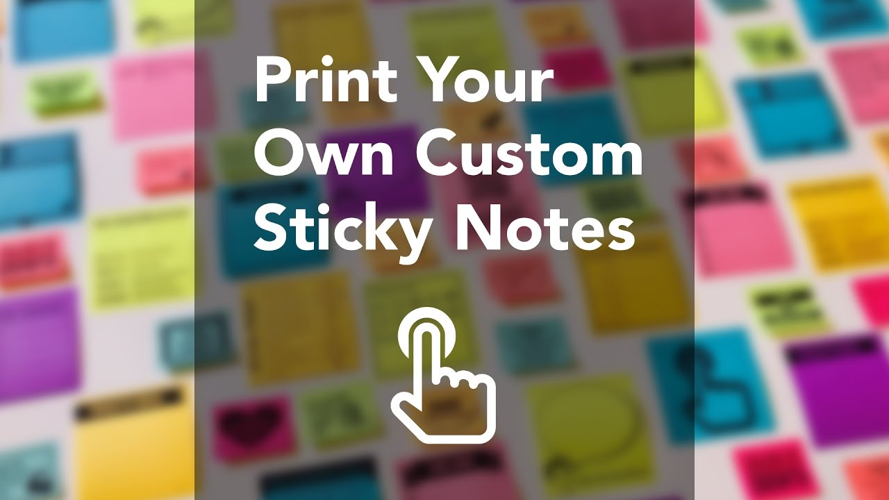 Print Your Own Custom Sticky Notes - Google Slides Template