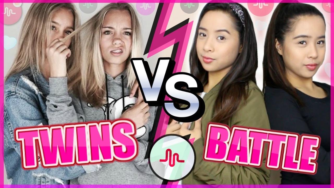 lisa and lena vs caleon twins musically battle best musically battle 2017 - Caleon Color