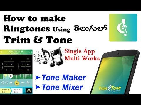 How to make Ringtones Using Contus Trim & Tone Telugulo || Full Review on||