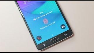 galaxy note 4 fingerprint scanner tips usage single hand use
