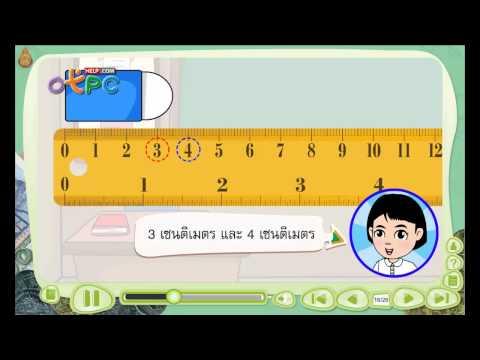 การวัดความยาวและหน่วยวัดความยาว - สื่อการเรียนการสอน คณิตศาสตร์ ป.3