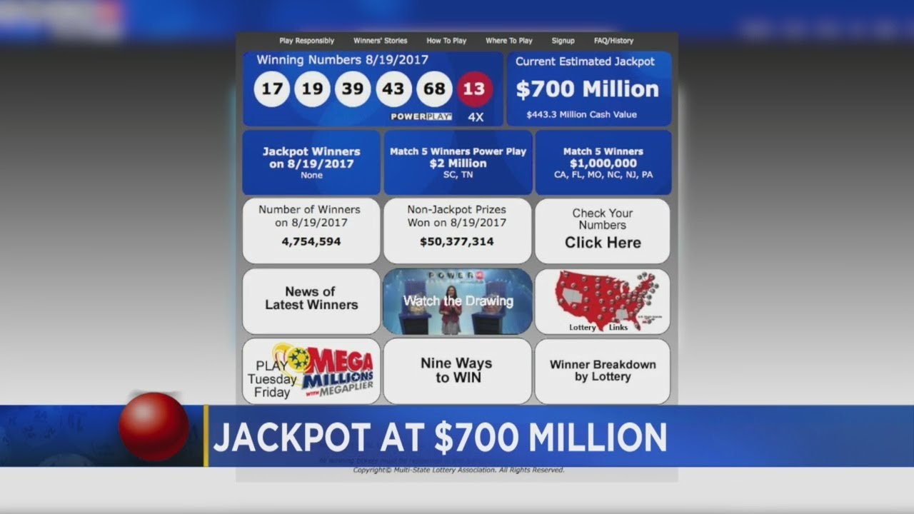 700m Powerball Drawing Is Tonight Youtube