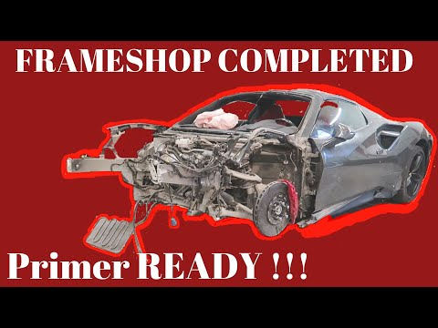Ferrari 488 WRECKED/REBUILD from AUCTION (PART 3) Frame Work Repair (VIDEO #14)