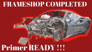 Ferrari 488 WRECKED/REBUILD from AUCTION (PART 3) Frame Work Repair