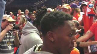 Clemson fans excited about Gallman and Williams at media day in Tampa #GateHouseCFP