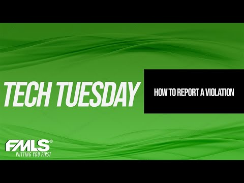 Tech Tuesday Tips - How to Report a Violation