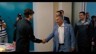 Elvin Grey и Президент Татарстана на открытии продюсерского центра