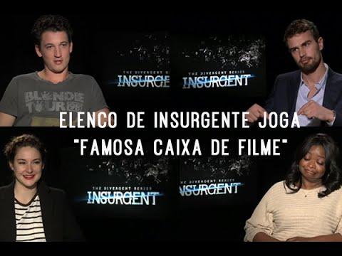 """Elenco de Insurgente joga """"Famosa caixa de Filme"""" - Legendado"""