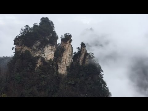 Central China's  'Avatar' mountains float in spectacular mist