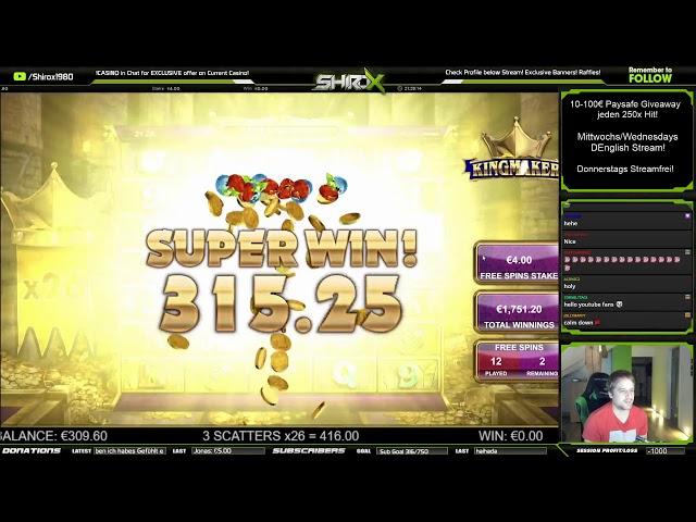 Kingmaker SUPER BIG WIN Big Time Gaming