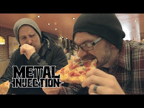 Between The Buried And Me NYC Vegan Pizza Tour | Metal Injection