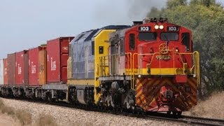 Freight Trains at Two Wells, South Australia - Australian Trains