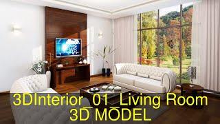 3D Model of 3DInterior_01_Living Room Review