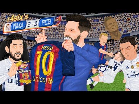 Parodia animada del Real Madrid 2-3 Barcelona 23/4/2017