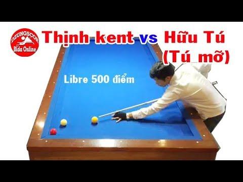 BIDA ONLINE - 당구 Thịnh kent vs a Hữu Tú (Tú mỡ) - bida libre 500 điểm- 2 seri A Việt Nam