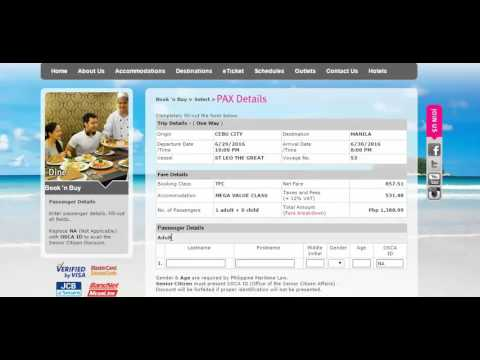 2Go Promo Online Booking Tutorial