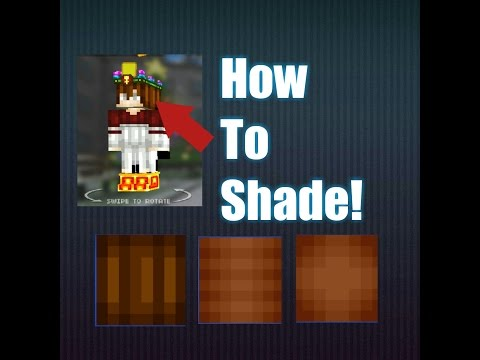 HOW TO SHADE A SKIN IN Pixel Gun 3D Or Any Pixel Game!