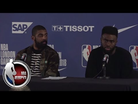 Jaylen Brown jokes on Kyrie Irving saying