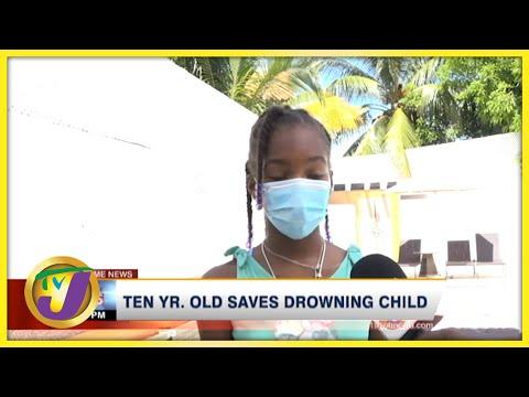 10 Yr. Old Saves Drowning Child   TVJ News - Sept 6 2021