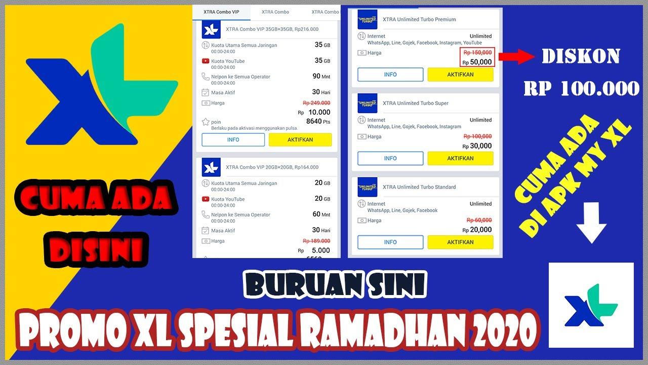 Promo Kouta Murah Xl Ramadhan 2020 Buruan Coba Keburu Kehabisan Youtube