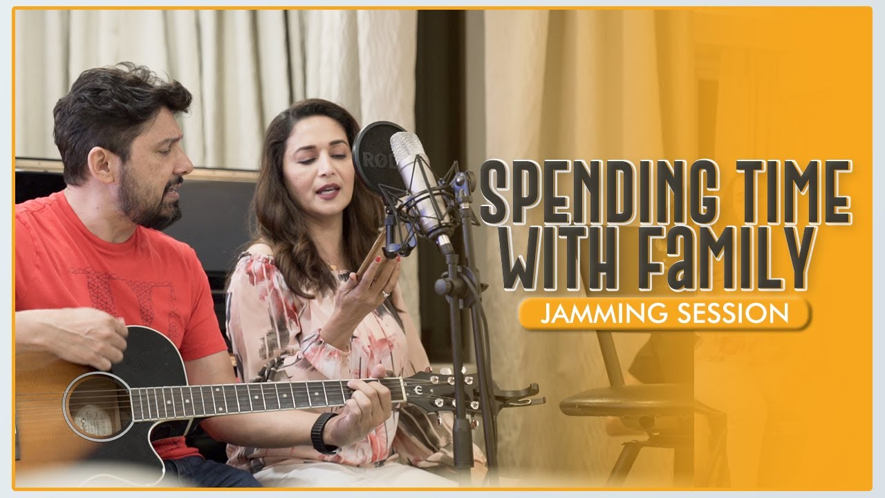 Madhuri Dixit spending time with her Family | Family Jamming Session | Madhuri Dixit Nene